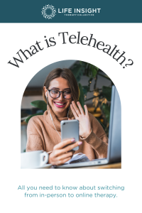 Graphic about telehealth which is a service used at Naperville counseling.