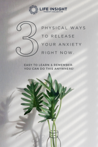 A graphic with the blog title and Life Insight logo for Pinterest representing how our Hinsdale anxiety therapy can help you or your loved ones