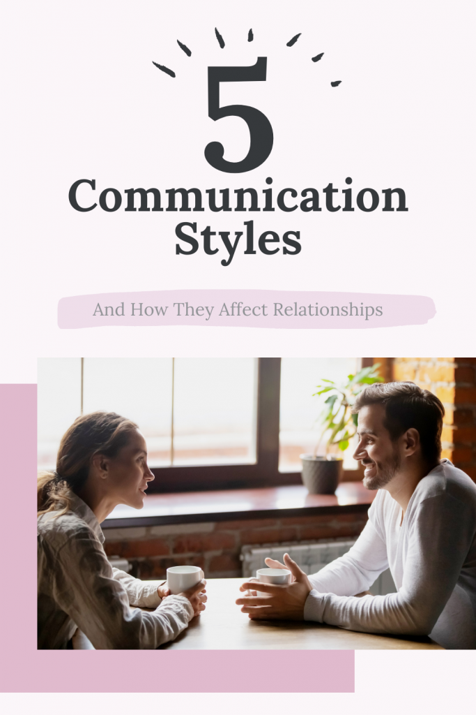 Pinterest graphic linking to couple talking and needing to work on their communication with a Naperville relationship therapist.